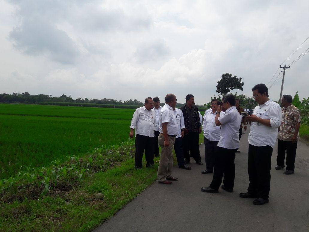 Ceklok Tanah Oleh Sekda Kab. Pemalang Untuk Pembangunan Kantor Kecamatan Bodeh Terpadu